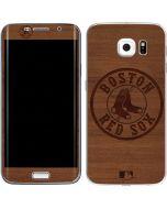 Boston Red Sox Engraved Galaxy S6 Edge Skin