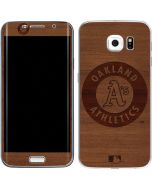 Oakland Athletics Engraved Galaxy S6 Edge Skin