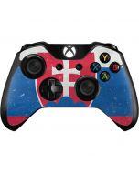 Slovakia Flag Distressed Xbox One Controller Skin