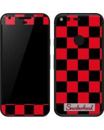 Sneakerhead Red Checkered Google Pixel Skin