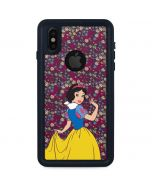 Snow White Floral iPhone XS Waterproof Case