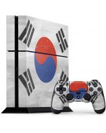 South Korean Flag Distressed PS4 Console and Controller Bundle Skin