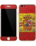 Spain Flag Dark Wood iPhone 6/6s Skin