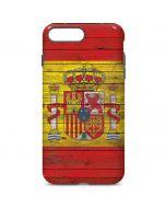 Spain Flag Dark Wood iPhone 7 Plus Pro Case