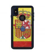 Spain Flag Distressed iPhone XS Waterproof Case