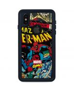 Spider-Man Vintage Comic iPhone X Waterproof Case