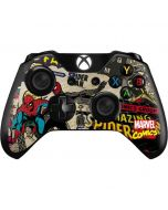 Spider-Man Vintage Comic Xbox One Controller Skin