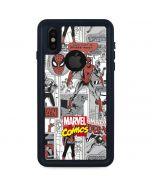 Spidey Comic Pattern iPhone X Waterproof Case