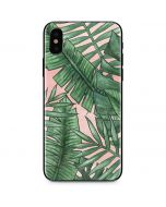 Spring Palm Leaves iPhone X Skin