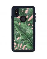 Spring Palm Leaves iPhone XS Waterproof Case