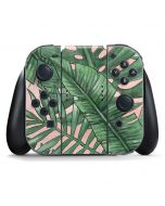 Spring Palm Leaves Nintendo Switch Joy Con Controller Skin