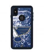 St. Louis Blues Frozen iPhone XS Waterproof Case