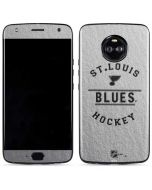St. Louis Blues Black Text Moto X4 Skin