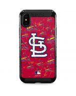 St. Louis Cardinals - Cap Logo Blast iPhone XS Max Cargo Case