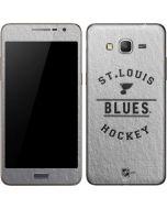 St. Louis Blues Black Text Galaxy Grand Prime Skin