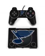 St. Louis Blues Black Background PlayStation Classic Bundle Skin