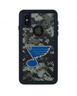 St. Louis Blues Camo iPhone XS Waterproof Case