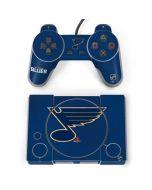 St. Louis Blues Distressed PlayStation Classic Bundle Skin