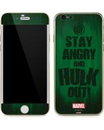 Stay Angry and Hulk Out iPhone 6/6s Skin
