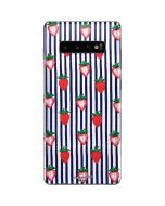 Strawberries and Stripes Galaxy S10 Plus Skin