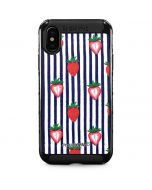Strawberries and Stripes iPhone XS Max Cargo Case
