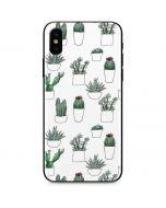 Succulent Pattern iPhone X Skin