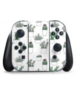 Succulent Pattern Nintendo Switch Joy Con Controller Skin