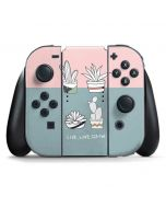 Succulent Sketch Nintendo Switch Joy Con Controller Skin