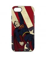 Superman American Flag iPhone 8 Pro Case