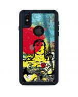 Superman Color Splatter iPhone X Waterproof Case
