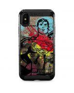 Superman Color Splatter iPhone XS Max Cargo Case