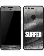 SURFER Black and White Wave Google Pixel Skin