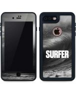 SURFER Black and White Wave iPhone 7 Plus Waterproof Case