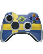 Sweden Flag Distressed Xbox 360 Wireless Controller Skin