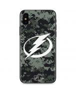 Tampa Bay Lightning Camo iPhone XS Skin