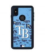 Tampa Bay Rays - Cap Logo Blast iPhone XS Waterproof Case
