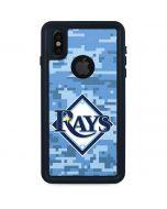 Tampa Bay Rays Digi Camo iPhone XS Waterproof Case