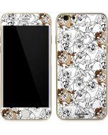 Tasmanian Devil Super Sized Pattern iPhone 6/6s Skin