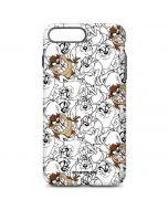 Tasmanian Devil Super Sized Pattern iPhone 7 Plus Pro Case