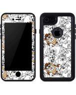 Tasmanian Devil Super Sized Pattern iPhone 8 Waterproof Case
