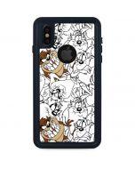 Tasmanian Devil Super Sized Pattern iPhone XS Waterproof Case