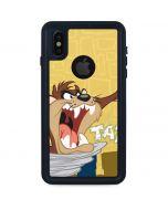 Tasmanian Devil Swirl Cream iPhone XS Waterproof Case