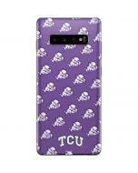 TCU Horned Frogs Logo Print Galaxy S10 Plus Skin