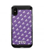 TCU Horned Frogs Logo Print iPhone XS Max Cargo Case