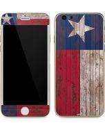 Texas Flag Dark Wood iPhone 6/6s Skin
