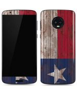Texas Flag Dark Wood Moto G6 Skin