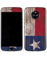 Texas Flag Dark Wood Moto X4 Skin