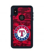 Texas Rangers Digi Camo iPhone XS Waterproof Case