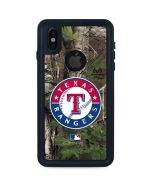 Texas Rangers Realtree Xtra Green Camo iPhone XS Waterproof Case