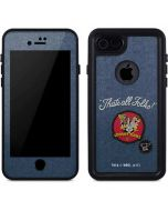 Thats All Folks Patch iPhone 8 Waterproof Case